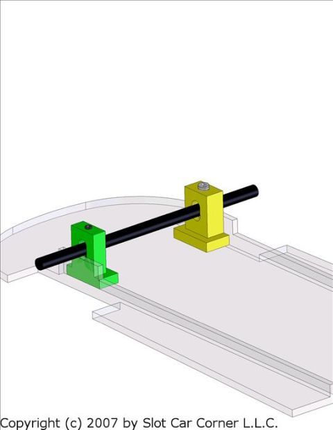 NOS Slot Car Dynamic Models Axle Reducer #761