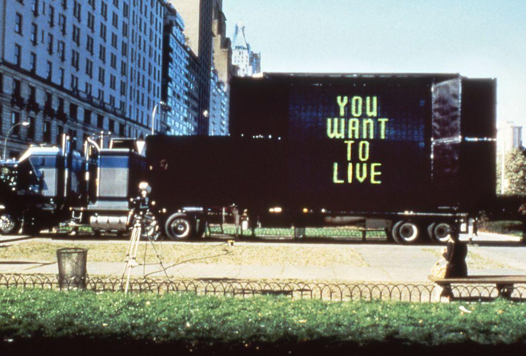 Jenny Holzer – Trucks and Truisms