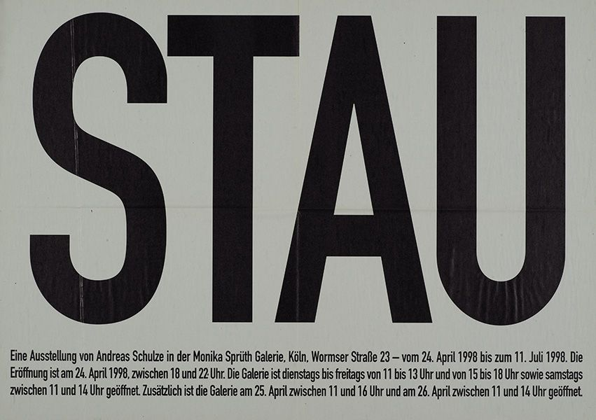 Andreas Schulze – Stau – Cologne