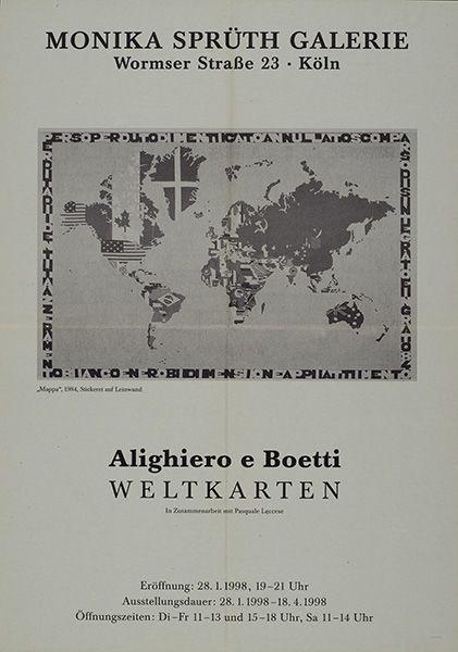 Alighiero Boetti – Weltkarten – Cologne