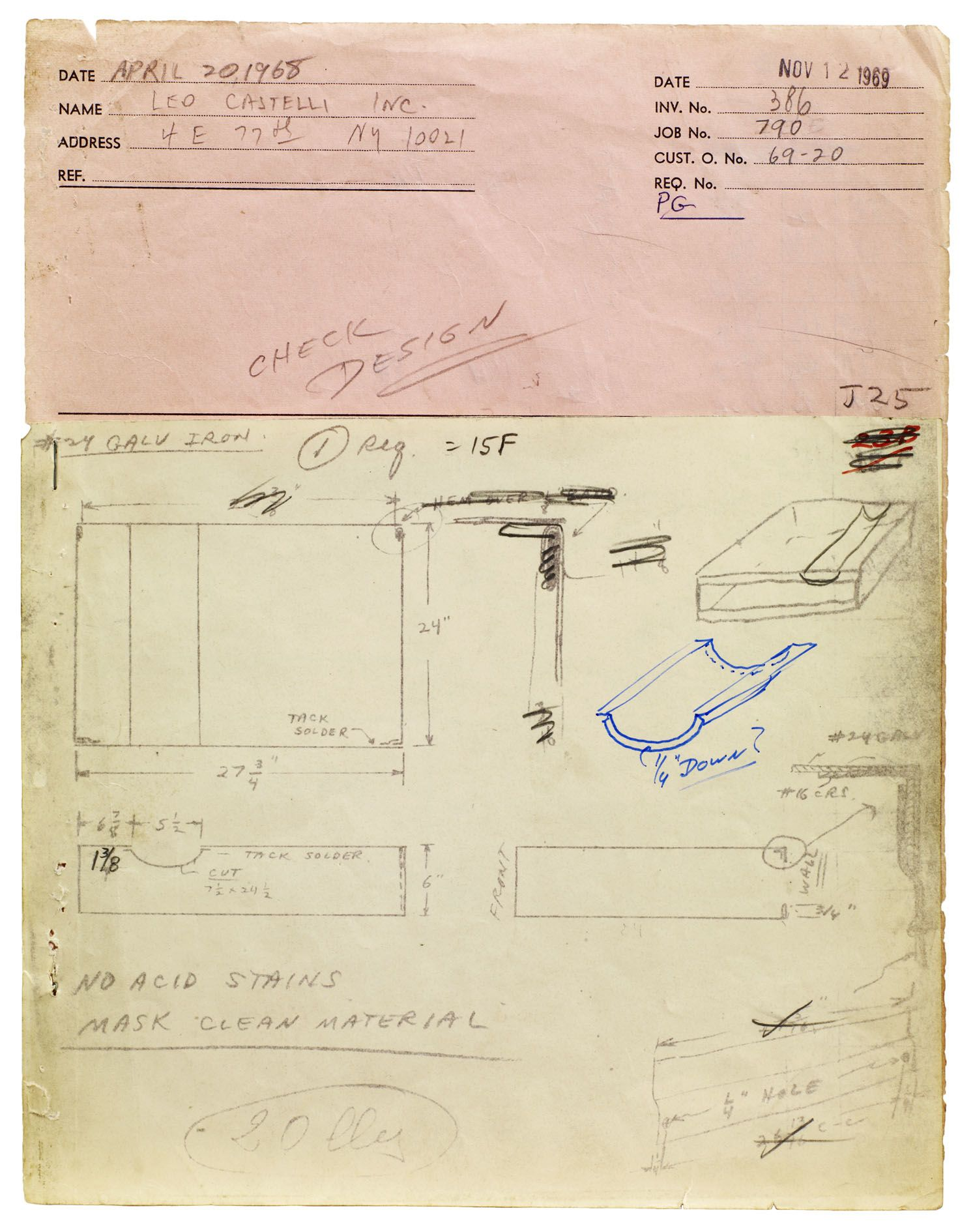 Donald Judd – Working Papers: Donald Judd Drawings, 1963 – 93 – London