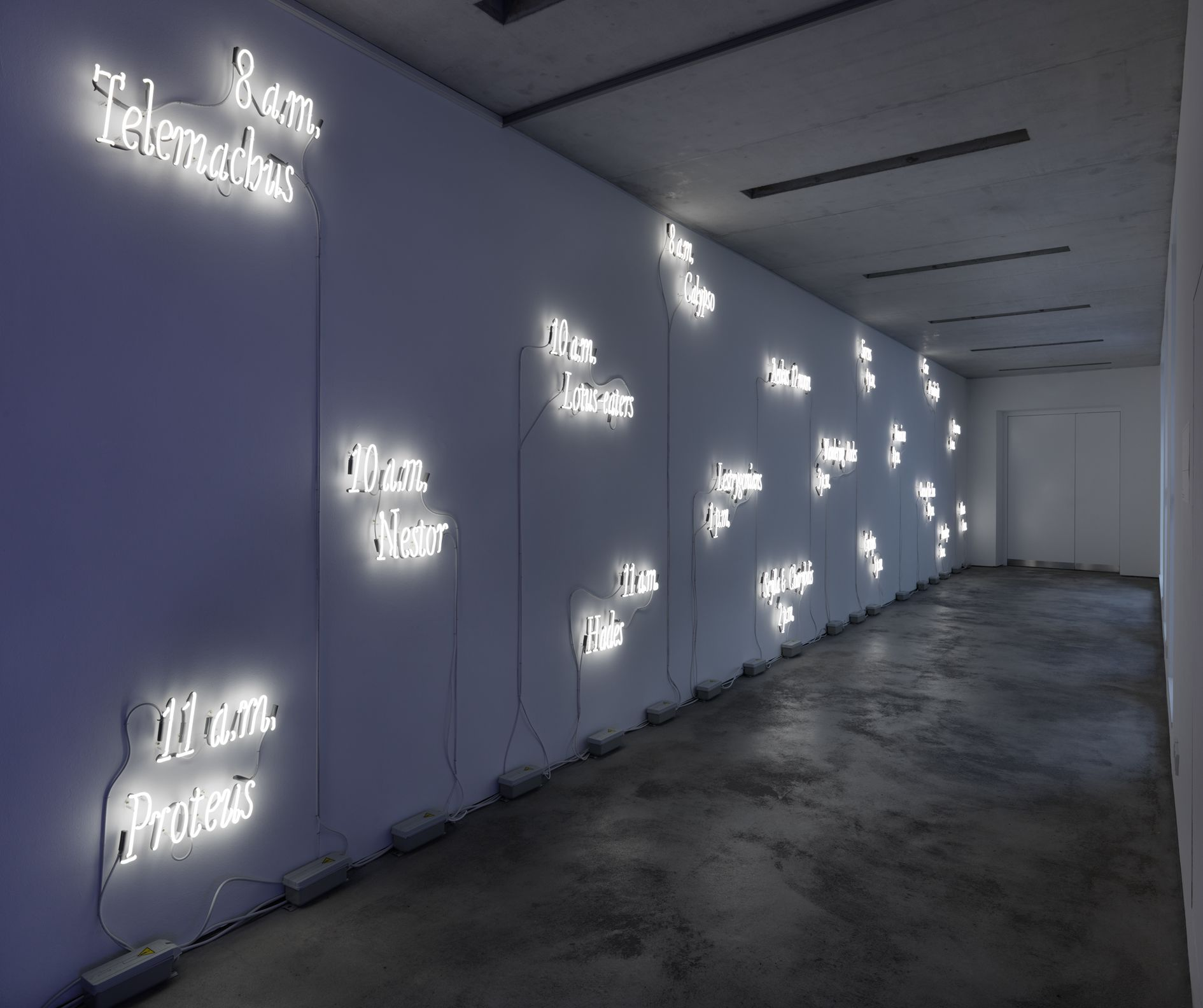 Joseph Kosuth – Amnesia: various, luminous, fixed. – London