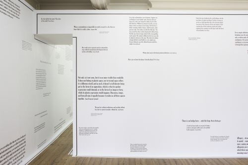 Joseph Kosuth – The Mind's Image of Itself #3' a play of architecture and the mind – London