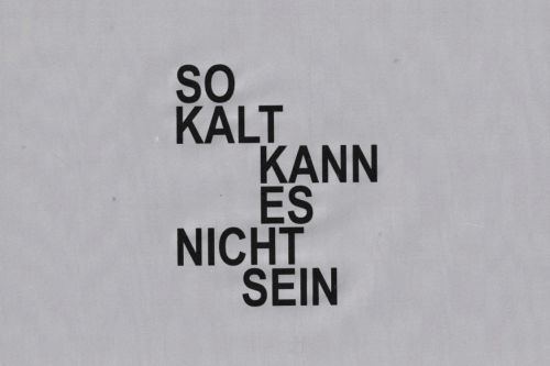 David Ostrowski – So kalt kann es nicht sein/It can't be that cold – Berlin