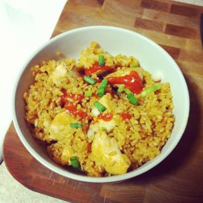 Sriracha chicken fried rice