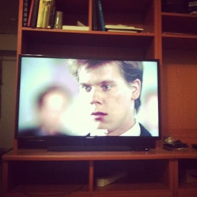 Kevin Bacon onscreen in Footloose