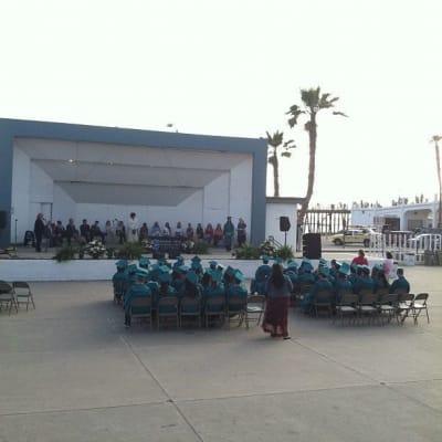 Graduation ceremony at Oceanside Pier