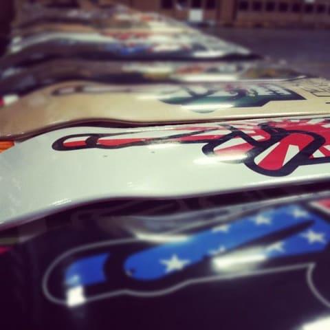 Assorted skateboard decks