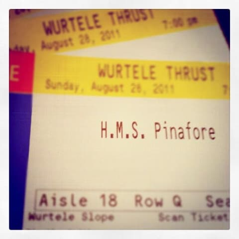 Ticket stub for H.M.S. Pinafore