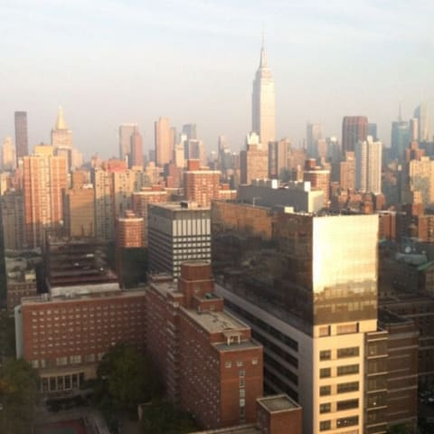 View of Manhattan from hotel window