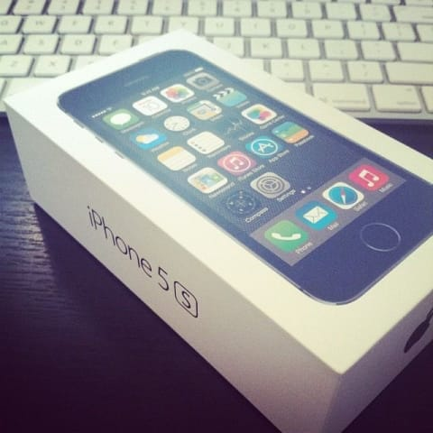 iPhone 5s in it's box on my desk