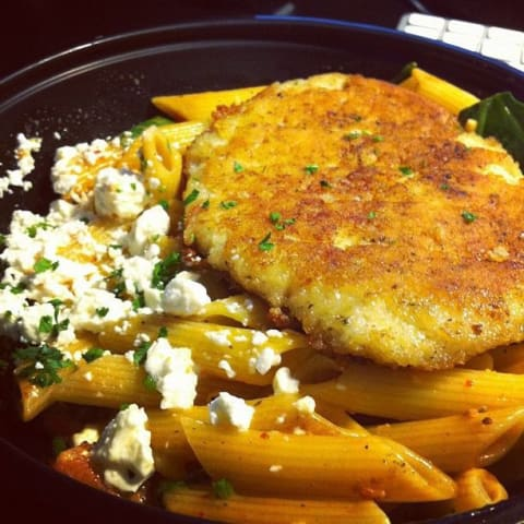 Penne Rosa with chicken from Noodles and Company