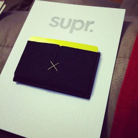 My Supr wallet still in the packaging