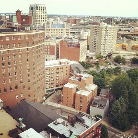 Downtown Boston from my hotel room
