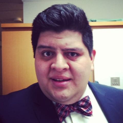 Me looking daper with a bow tie