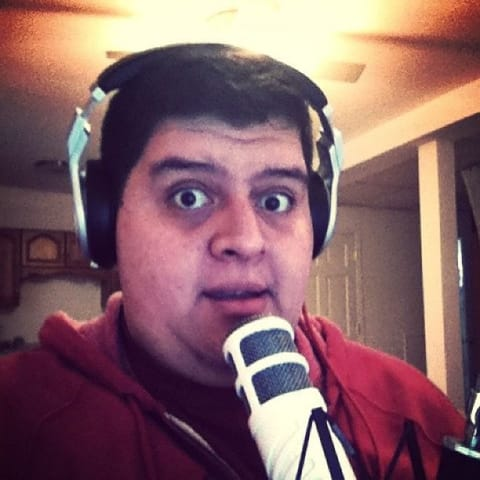 Me in front of my microphone with a funny look