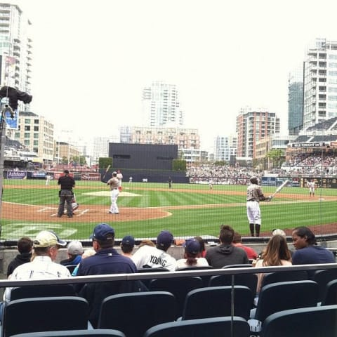 My view from behind first plate