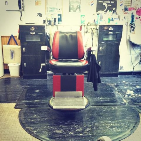 Chair at the barbershop