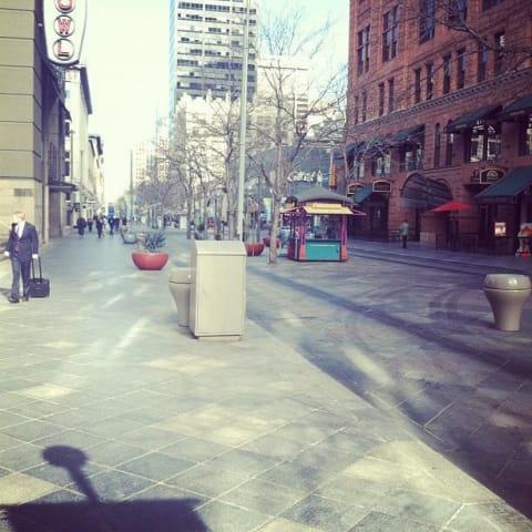 Downtown Denver on a walk