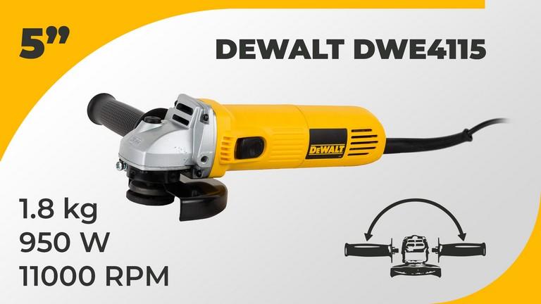 Best Angle Grinder Dewalt DWE4115 Specifications