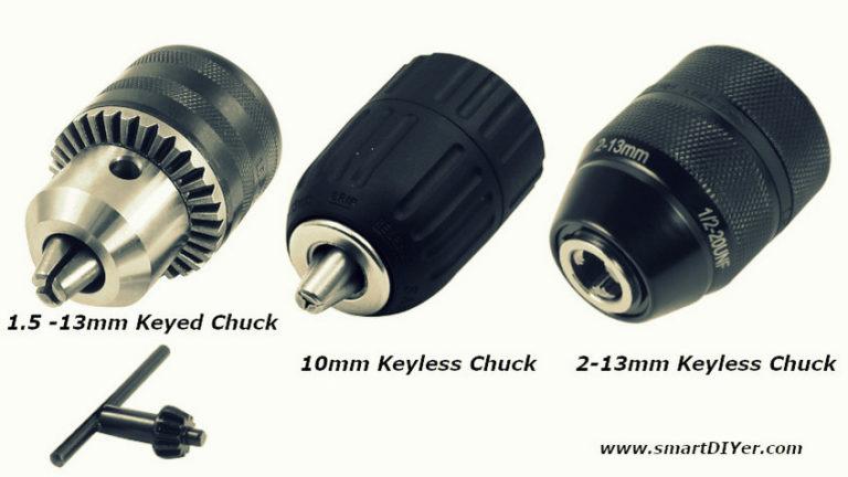 Types of Drill Chuck, Keyed, Keyless, Jacobs Chuck