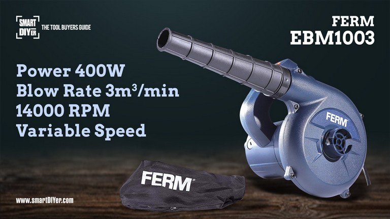 Ferm EBM1003 Electric Blower 400W 6000-14000 RPM