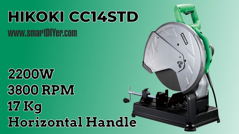 HiKOKI CC14STD 14 inch 2200-Watt Cut-Off Machine, Green