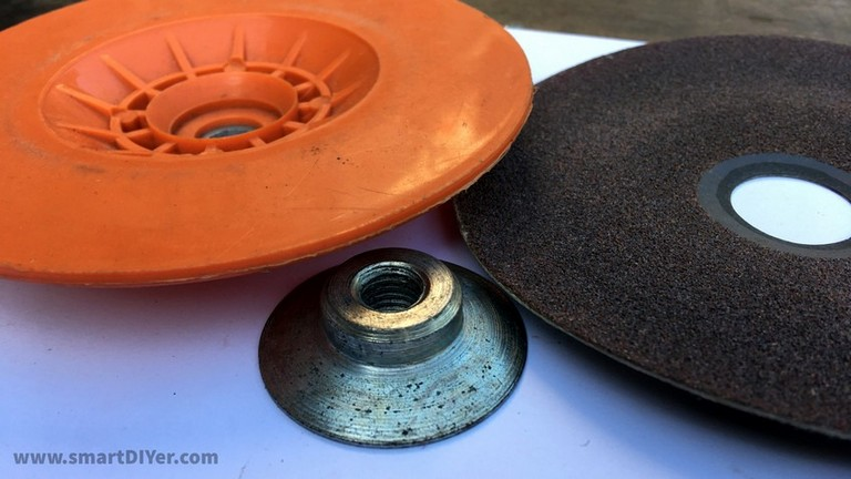 Angle Grinder Disc Types- Backing Pad 5 inch, M10, M14 Nut Size