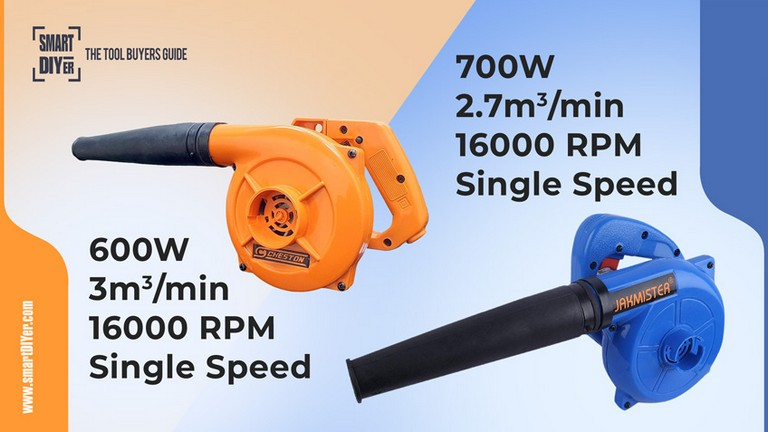 Jakmister Unbreakable Plastic 700 W 16000RPM 90 Miles/Hour Electric Air Blower Dust PC Cleaner (Blue)