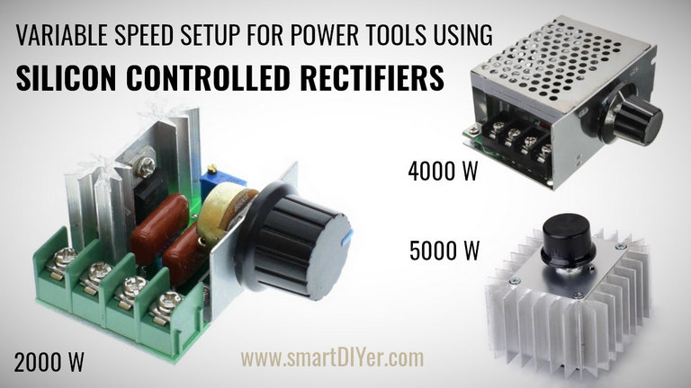 SCR Speed Control For Angle Grinder and other Power Tools with Universal Motor