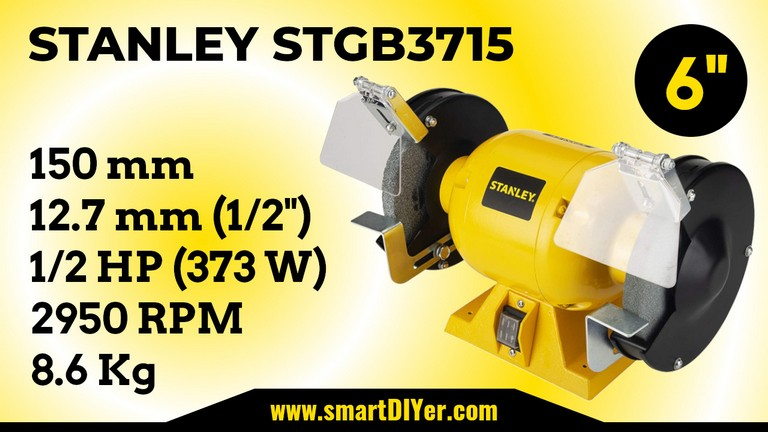 Best Bench Grinder STANLEY STGB3715 Specifications Review