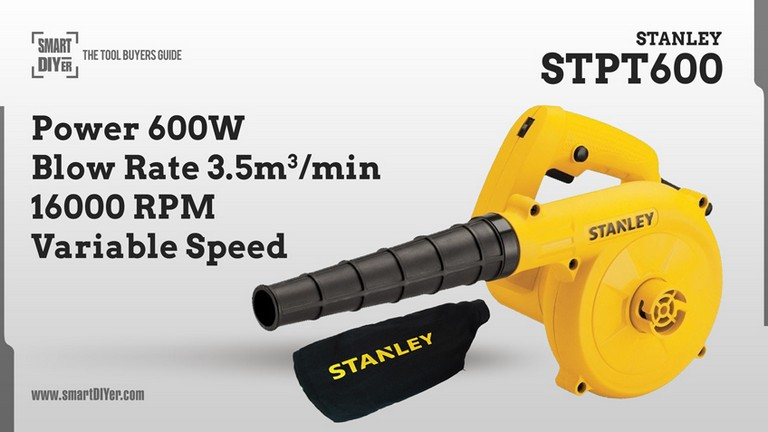 STANLEY STPT600 600W Variable Speed Blower (Yellow and Black)