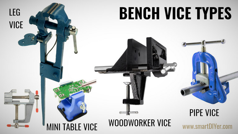 Bench Vice Types- Wood Working Vice, Pipe Vice, Leg Vice