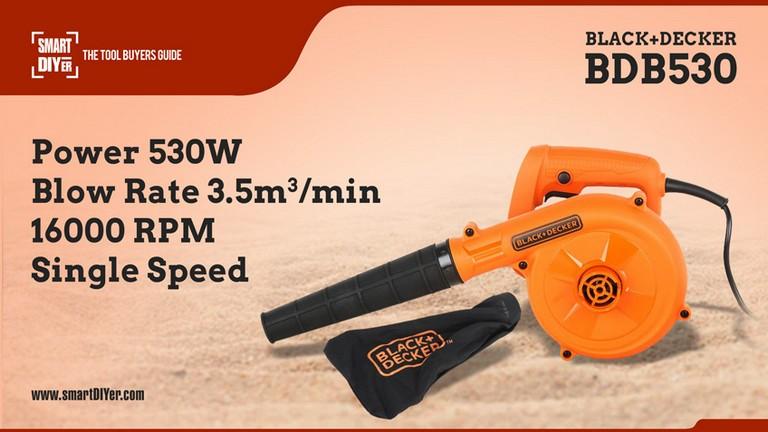BLACK+DECKER BDB530 530-Watt Single Speed Air Blower (Orange)