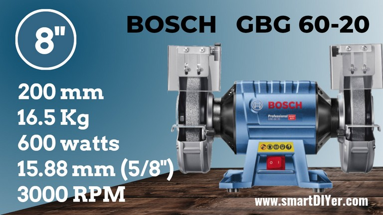 Best Bench Grinder Bosch 060127A4F0 GBG 60-20 Specifications Review
