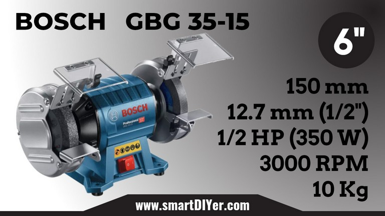 Best Bench Grinder Bosch 060127A3F0 GBG 35-15 Specifications Review