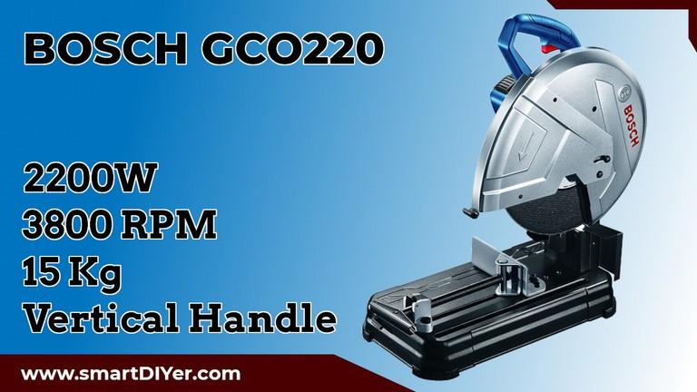 Bosch 0601B373F0-GCO220 2200-Watt 14-inch Chop Saw Machine (Blue) Bosch GCO220 specifications Best Chop Saw in India