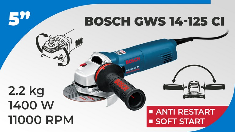 Best Angle Grinder Bosch GWS 14-125 CI Specifications