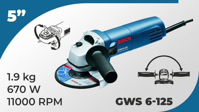 Best Angle Grinder Bosch GWS 6-125 Specifications