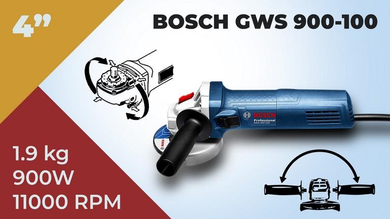 """Bosch Angle Grinder GWS 900-100 (4"""") 900W Heavy Duty"""