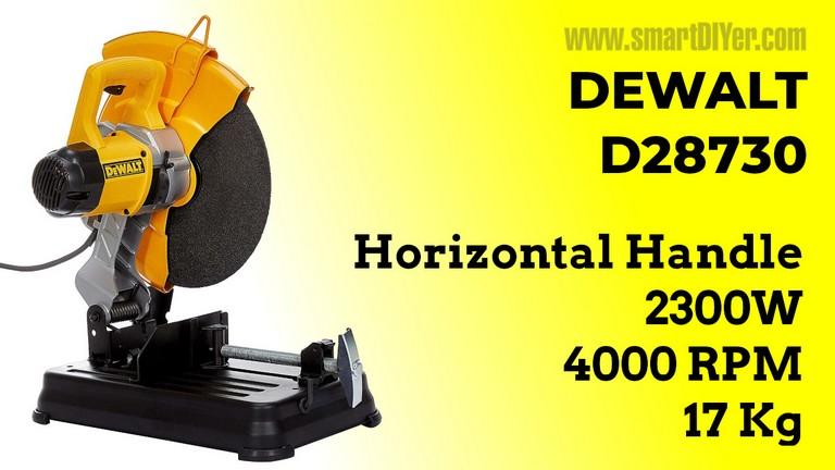 DEWALT D28730 2300W 355 mm (14 inch) Heavy Duty Chop Saw with wheel included