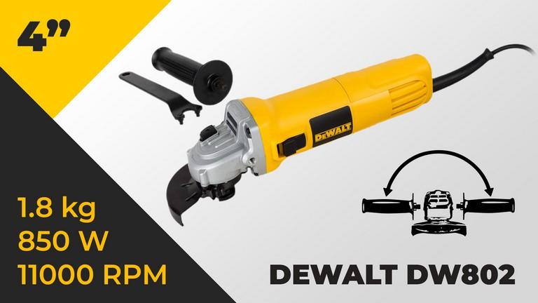 Dewalt DW802 850W 100mm Angle Grinder with Slider Switch