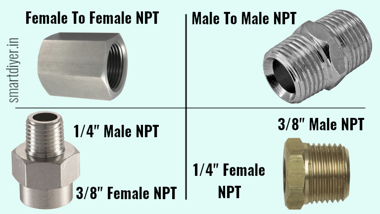 air compressor npt adapter 1/4 to 3/8