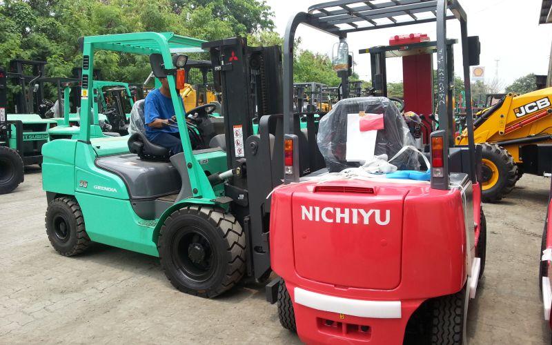Fully floating powertrain, Mitsubishi Forklift
