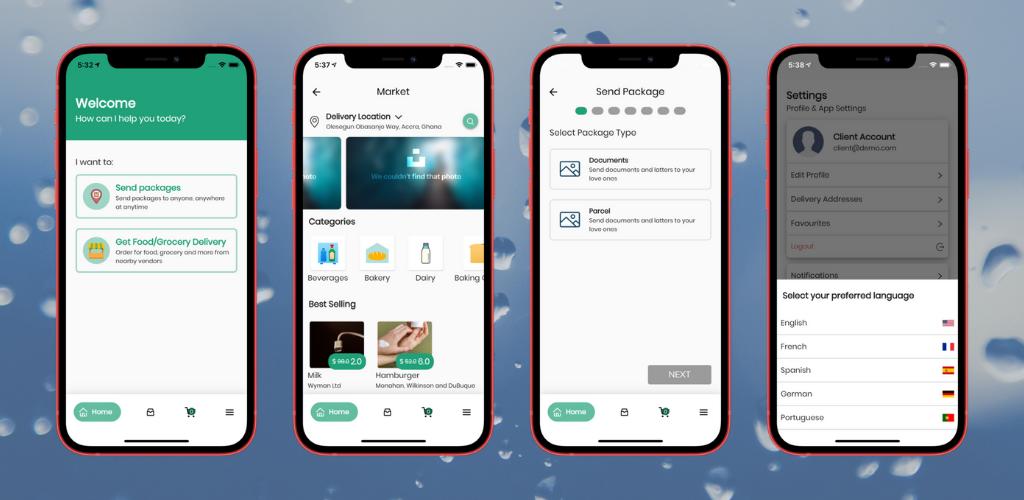 Fuodz - aplicativo de entrega de correio, comida, farmácia + back-end + aplicativo de driver e fornecedor - 2