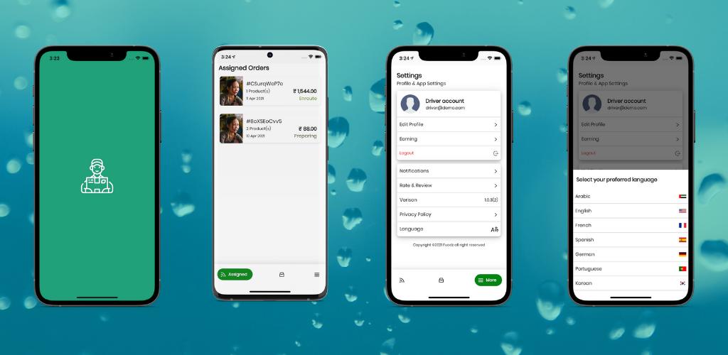Fuodz - aplicativo de entrega de correio, alimentação, farmácia + back-end + aplicativo de driver e fornecedor - 3