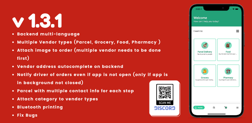 Fuodz - app de entrega de correio, comida, farmácia + back-end + driver e app de fornecedor - 1