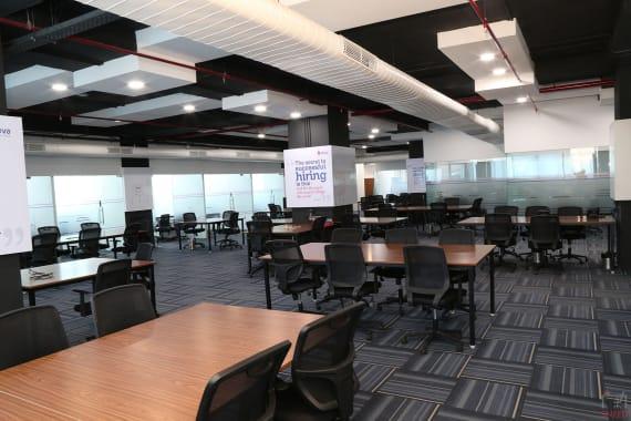 100 seaters Open Desk Hyderabad Hitech City ikeva-hitec-city