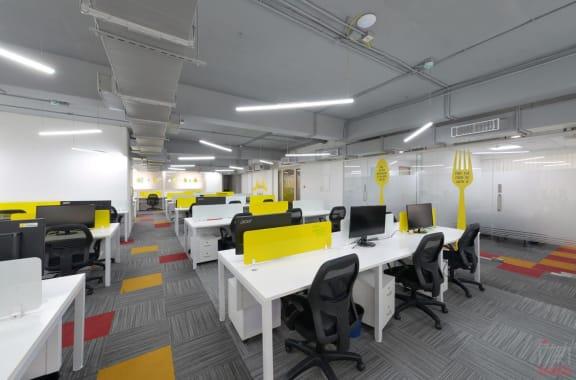 50 seaters Open Desk Bangalore HSR indiqube-delta