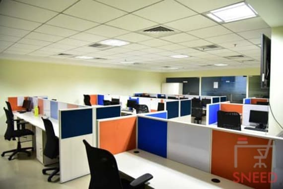 24 seaters Open Desk Hyderabad Hitech City unispace-melange